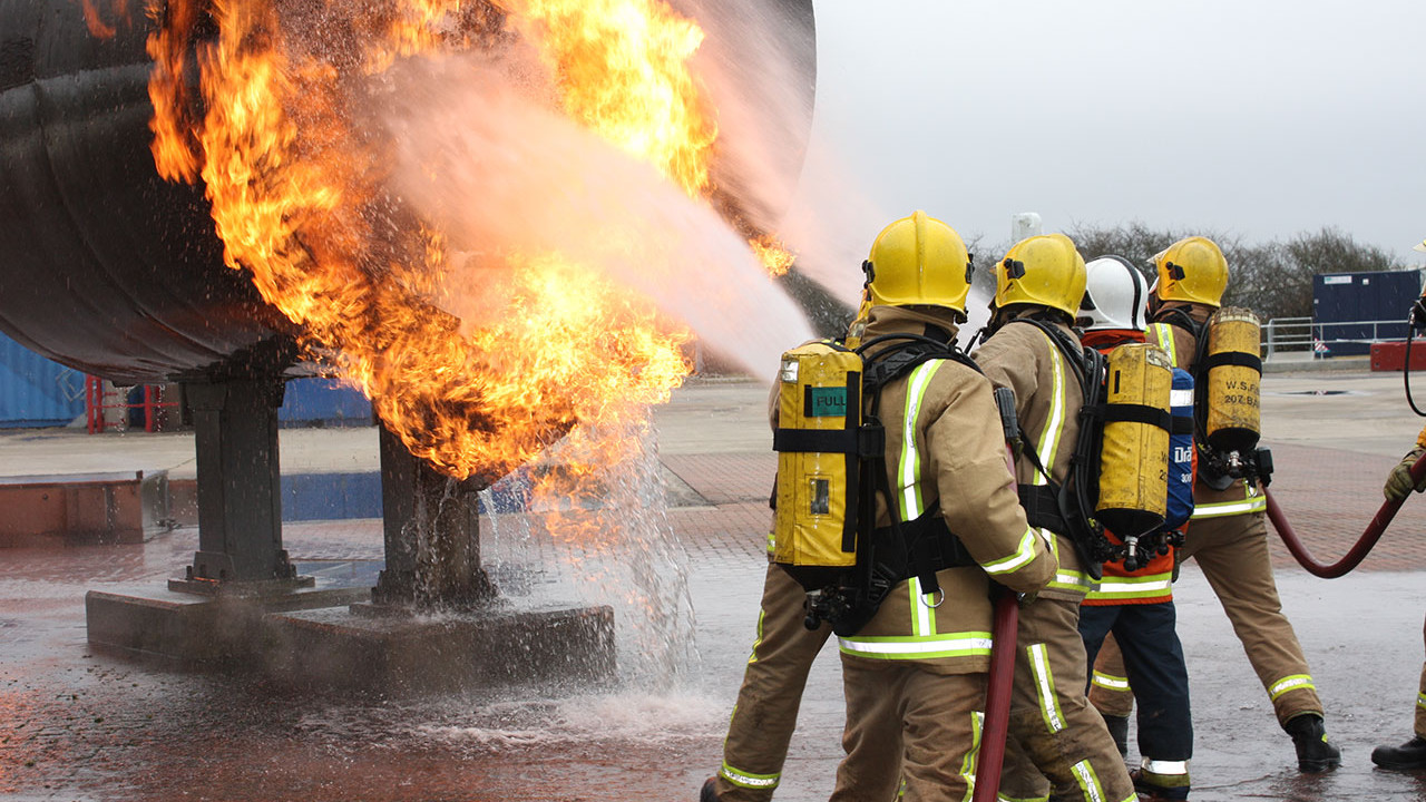 Gatwick Fire Engine fire